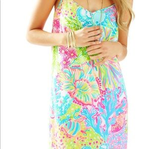 Lilly Pulitzer Dresses - SOLD * Lilly Pulitzer Dusk Silk Dress Lovers Coral